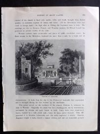 Voyages and Travels 1887 Antique Print. Chateau of Lazienski, Warsaw, Poland